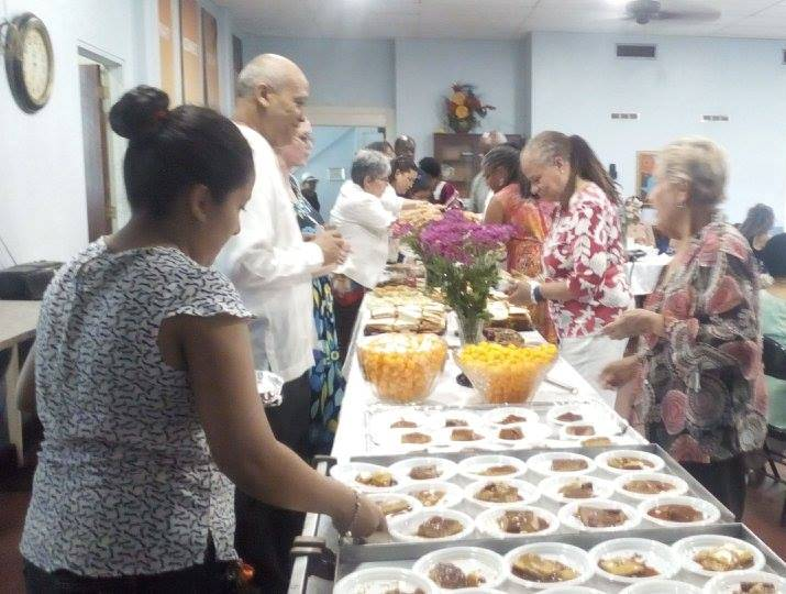 Jackson Memorial AME Zion, visit to Panama, Balboa Union Church, morning tea, fellowship, fellowship hall, Sunday service, English speaking church